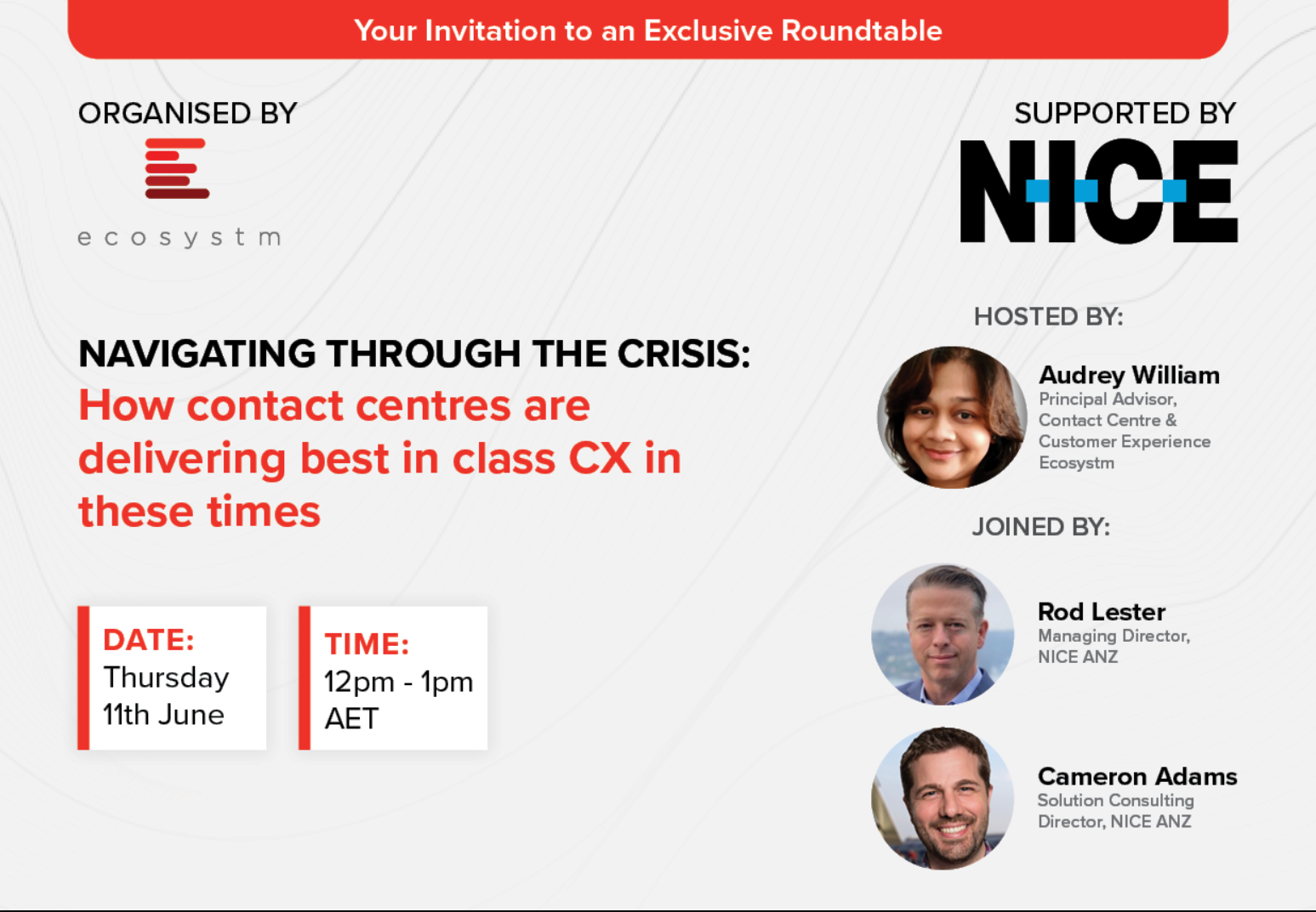 NICE Virtual Roundtable - How Contact Centres are delivering CX